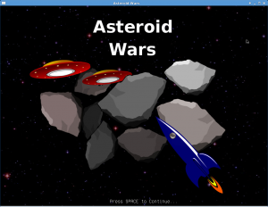 Asteroid Wars - Title Screen